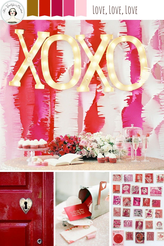Love, love, love Valentines Mood Board