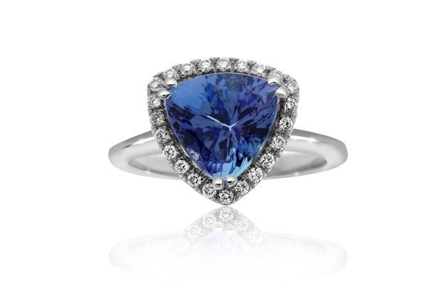 Reis-Nichols Jewelers : Tanzanite & Diamond Halo Ring