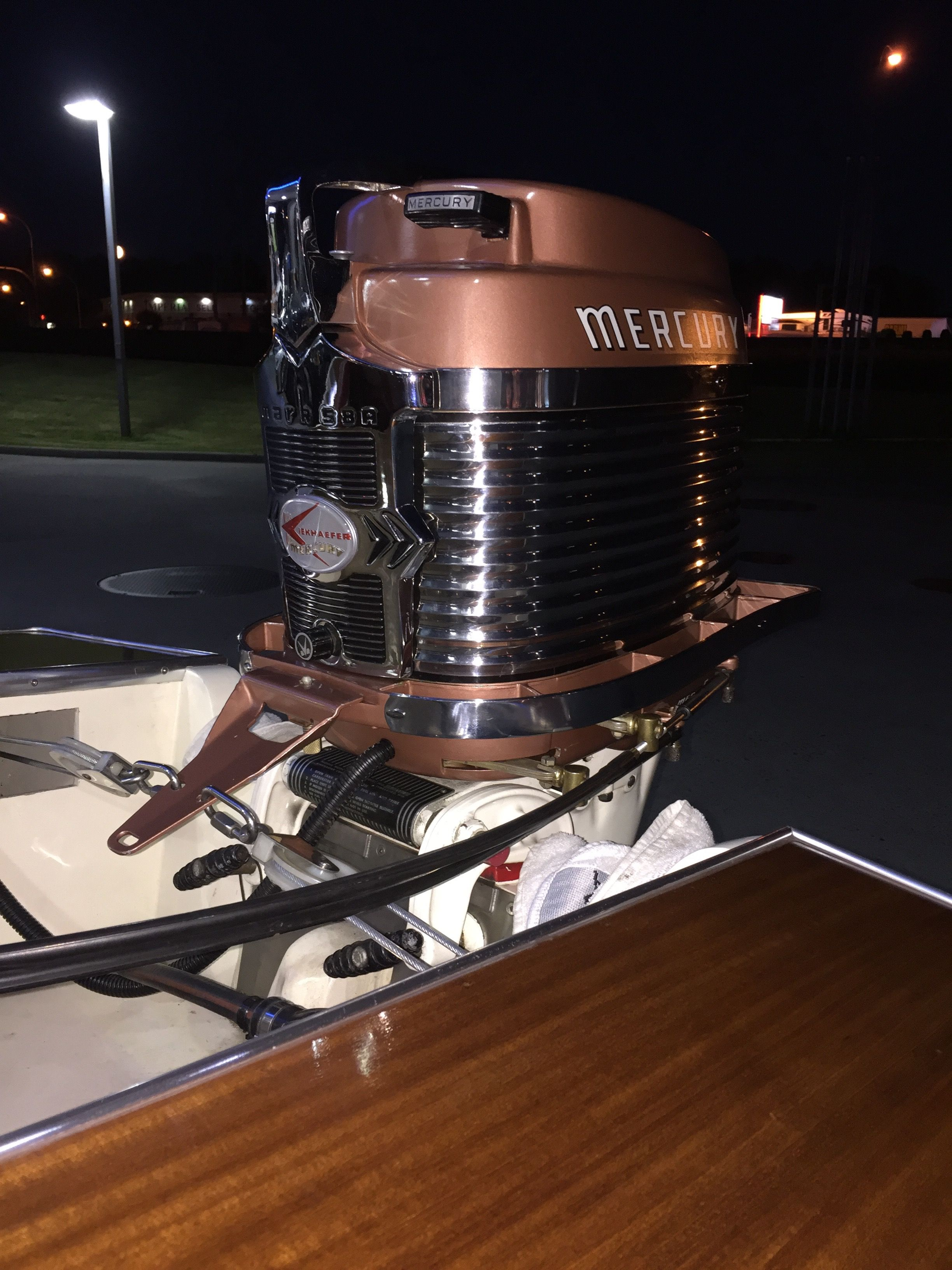 My Merc 400 disguised as a Canyon Copper Mark 58a   Vintage outboards   Pinterest   Outboard ...