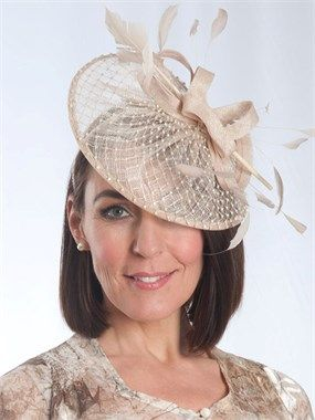 Champagne Diamante Detail Fascinator for the mother of the bride ... 88b3a435170
