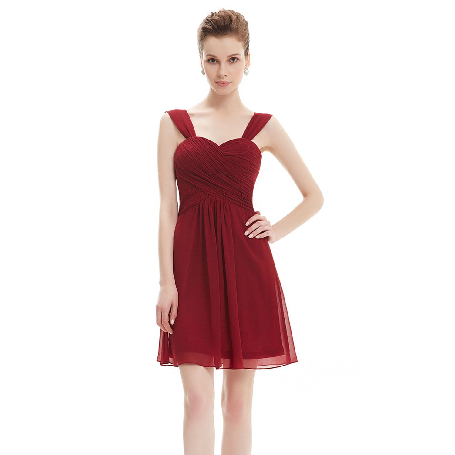 Nice amazing short mini formal chiffon cocktail evening dress cheap