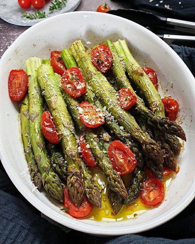 Photo of Grüner Spargel aus dem Ofen mit Parmesan | Lydiasfoodblog