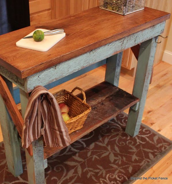 Beyond The Picket Fence Island Tutorial Rustic Kitchen Island