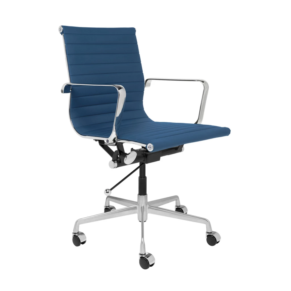 Soho Ribbed Management Chair Blue Most Comfortable Office Chair Chic Office Chair Office Chair Cushion