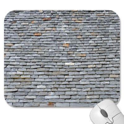 Slate Roof Tiles Close-Up Mousepads