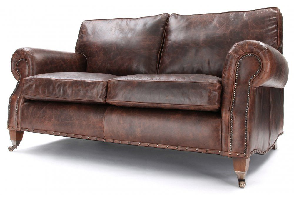 Hepburn Vintage Leather 3 Seater Sofa from Old Boot Sofas