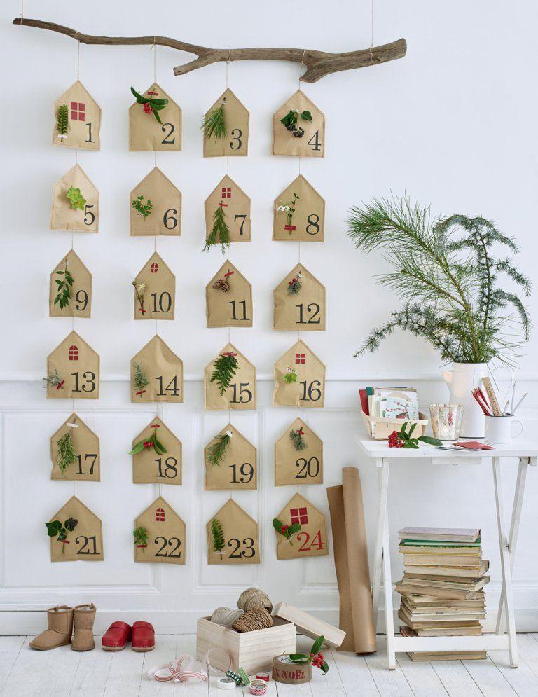 DIY : un calendrier de lAvent décoré de végétaux