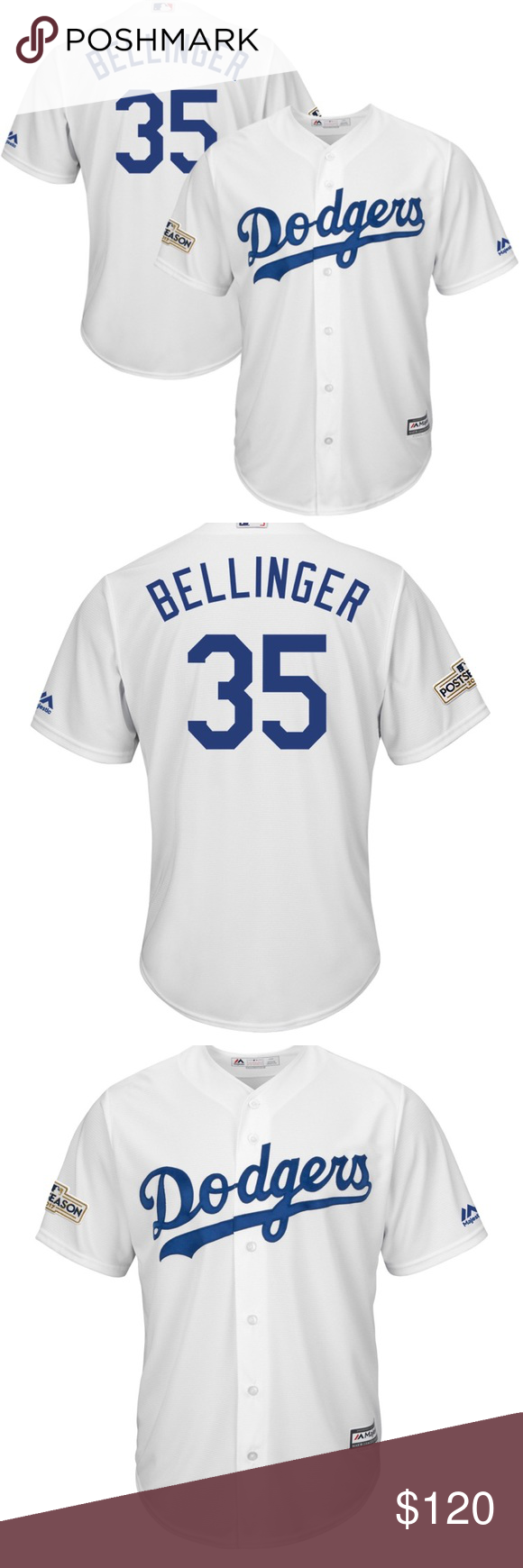premium selection 30ef0 3ae7a Brand New Mans Small Bellinger Dodger Jersey . Los Angeles ...