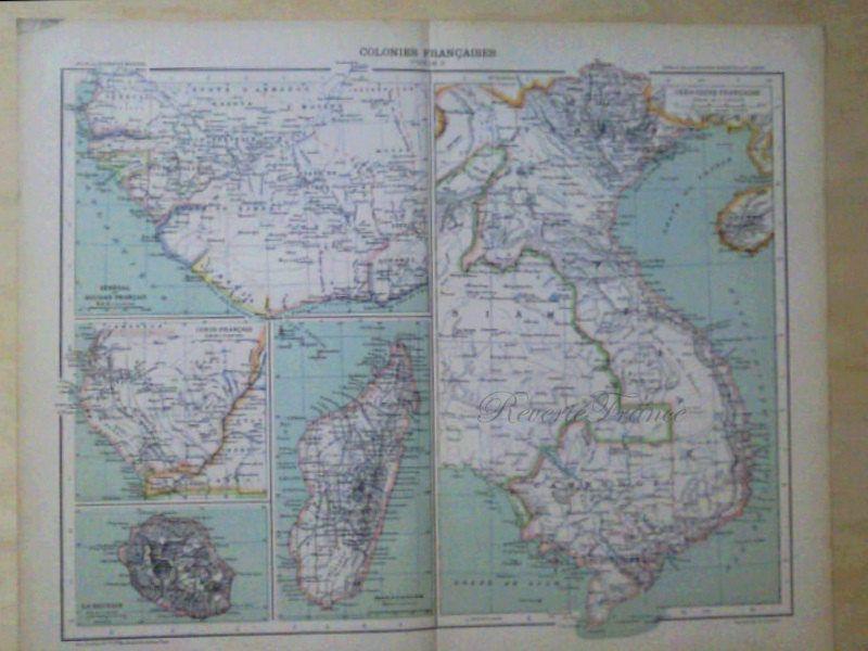 Antique world map 1891 large world map french colonies asia by antique world map 1891 large world map french colonies asia by reveriefrance on gumiabroncs Choice Image