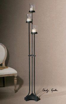 19741 Arla Tall Candleholder By Uttermost Modern Candleholders Dizajn Lampy