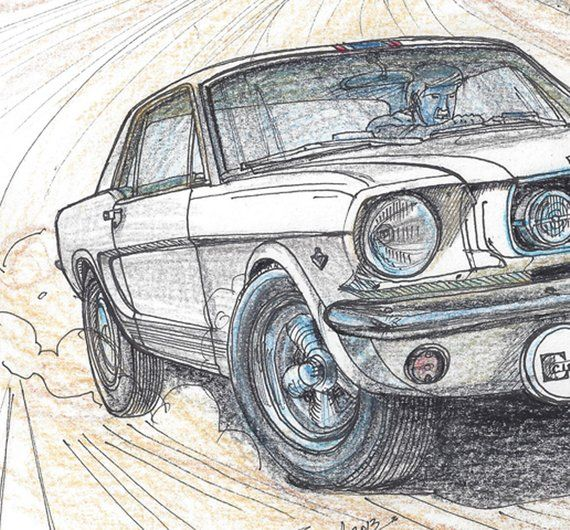 093-1965 Ford Mustang by John Najjar  Print  Limited Edition | Etsy