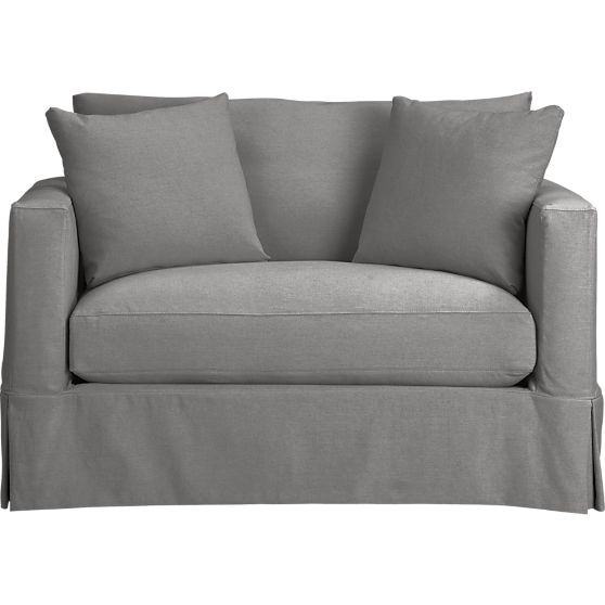 Willow Modern Slipcovered Twin Sleeper Sofa In 2019