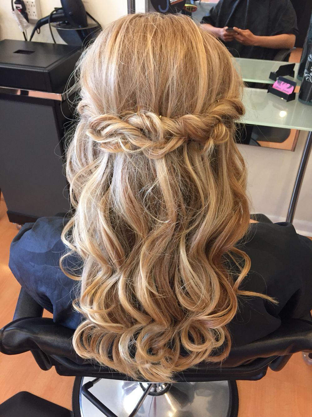 Twisted half updo | Cute hairstyles, Hair styles, Long hair styles
