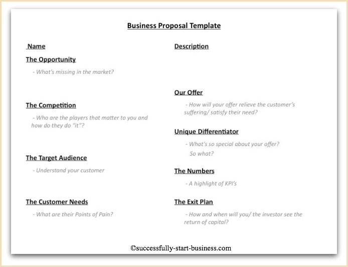 A 10 Point Business Proposal Template On Http//wwwsuccessfully