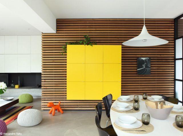 r sultat de recherche d 39 images pour bardage claire voie interieur salon salle manger. Black Bedroom Furniture Sets. Home Design Ideas