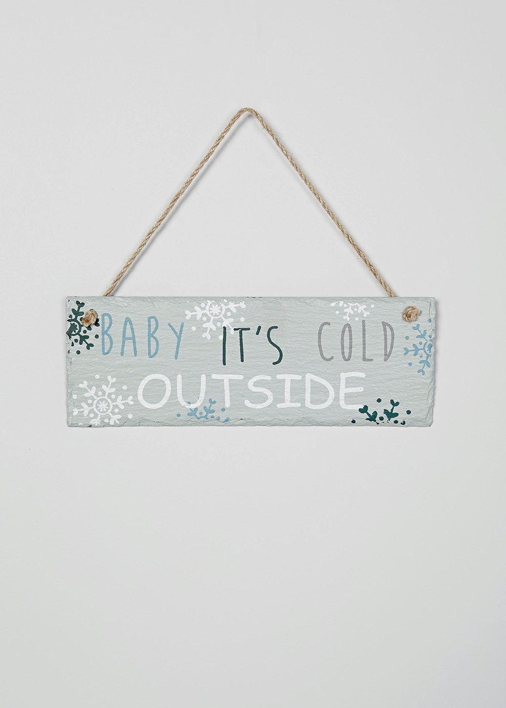 Christmas Bedroom Slate Sign (25cm x 9cm)
