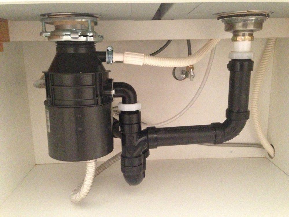 garbage disposal kitchen sink install
