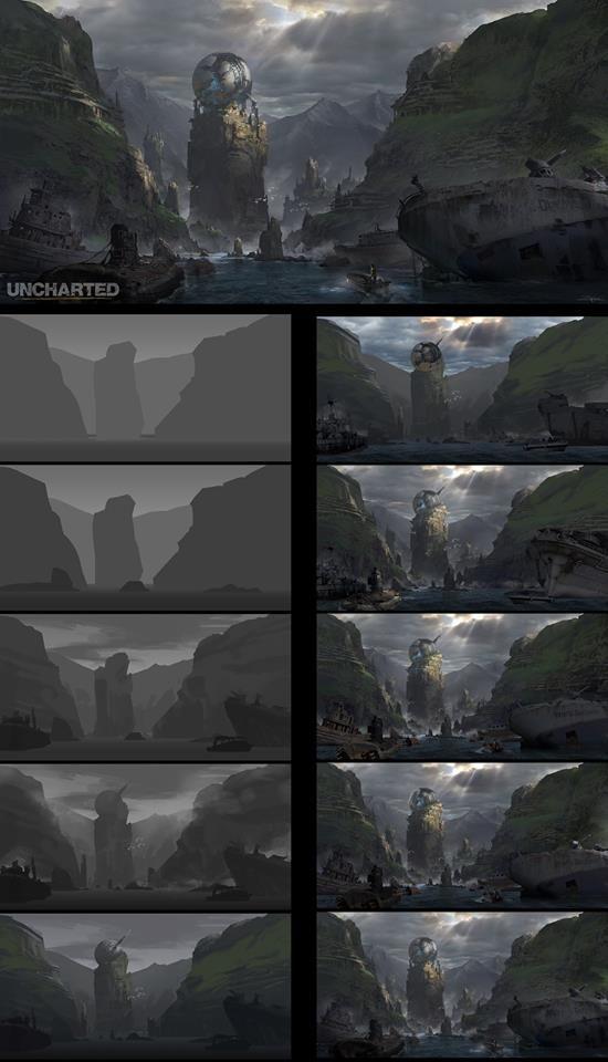 Pengzhen Zhang Digital Painting Tutorials Digital Painting Techniques Landscape Background