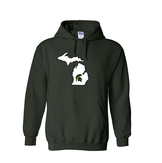 Spartan Strength White Logo Hooded Sweatshirt