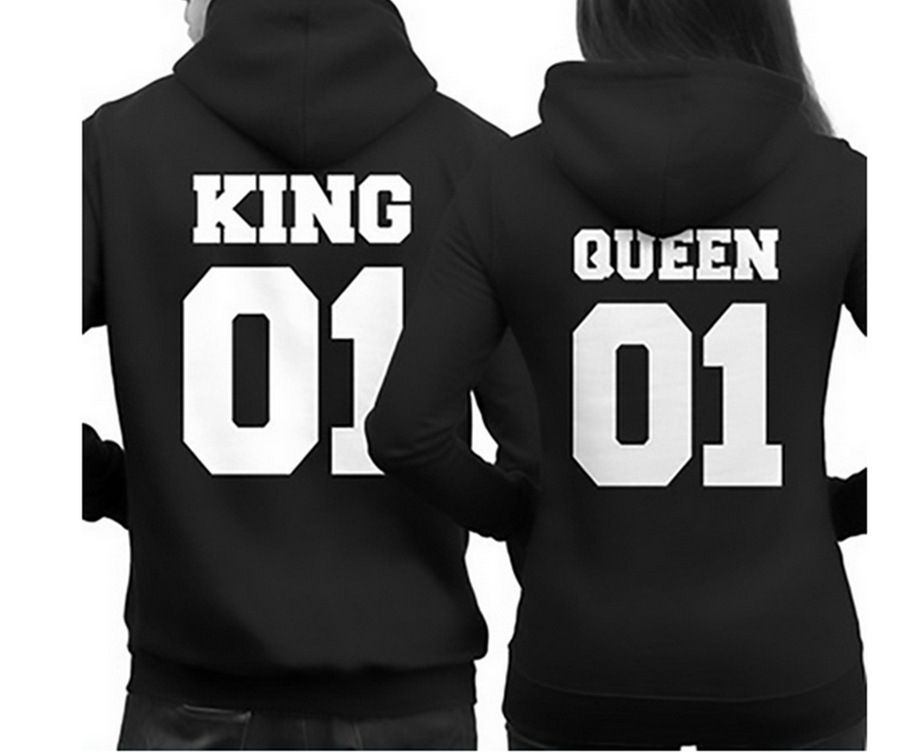 715f11aeaae 2106 Fashion King Queen Hoodie Couple Pullover Sweatshirt Unisex Hoodies  Causal Long Sleeve Crewneck Tracksuit For Men Women