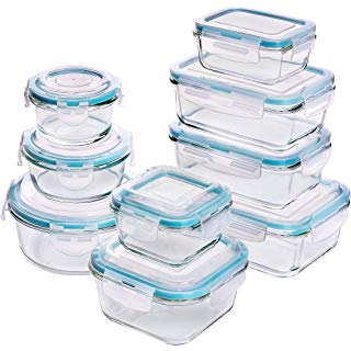 Amazon Com 20 Piece Glass Food Storage Containers Set With Snap