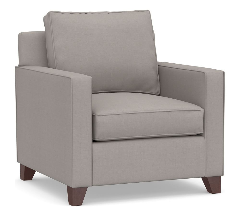 Cameron square arm upholstered armchair upholstered arm
