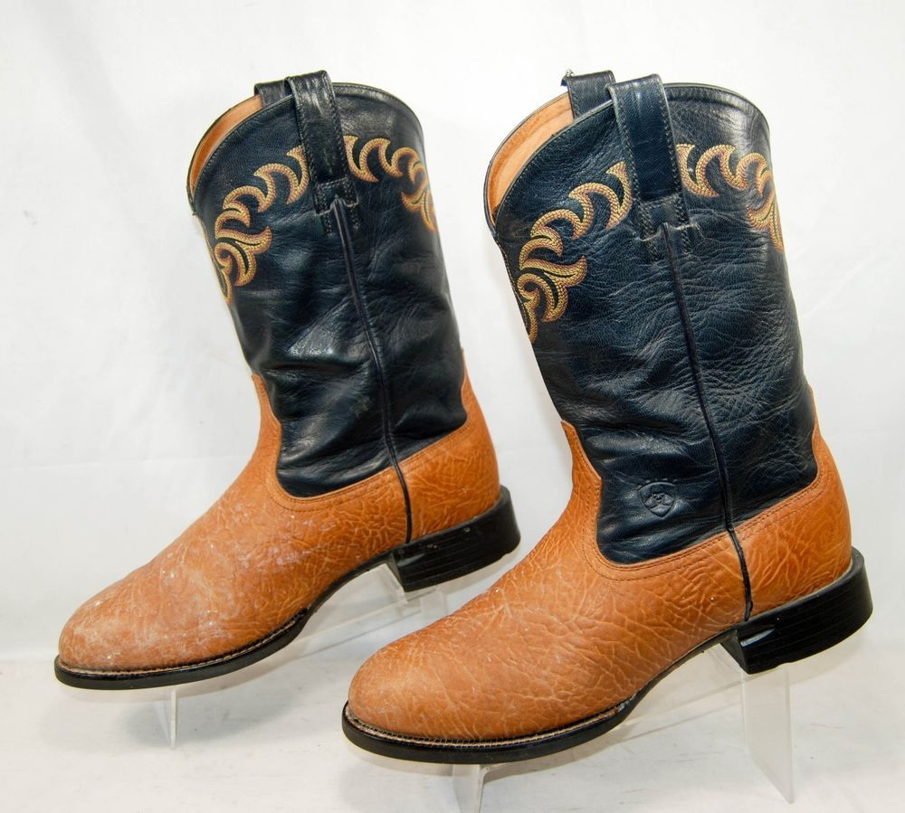 af8961e3987 ARIAT 35440 Round Toe Leather Cowboy Boots Brown Men's 10 EE: $14.99 ...