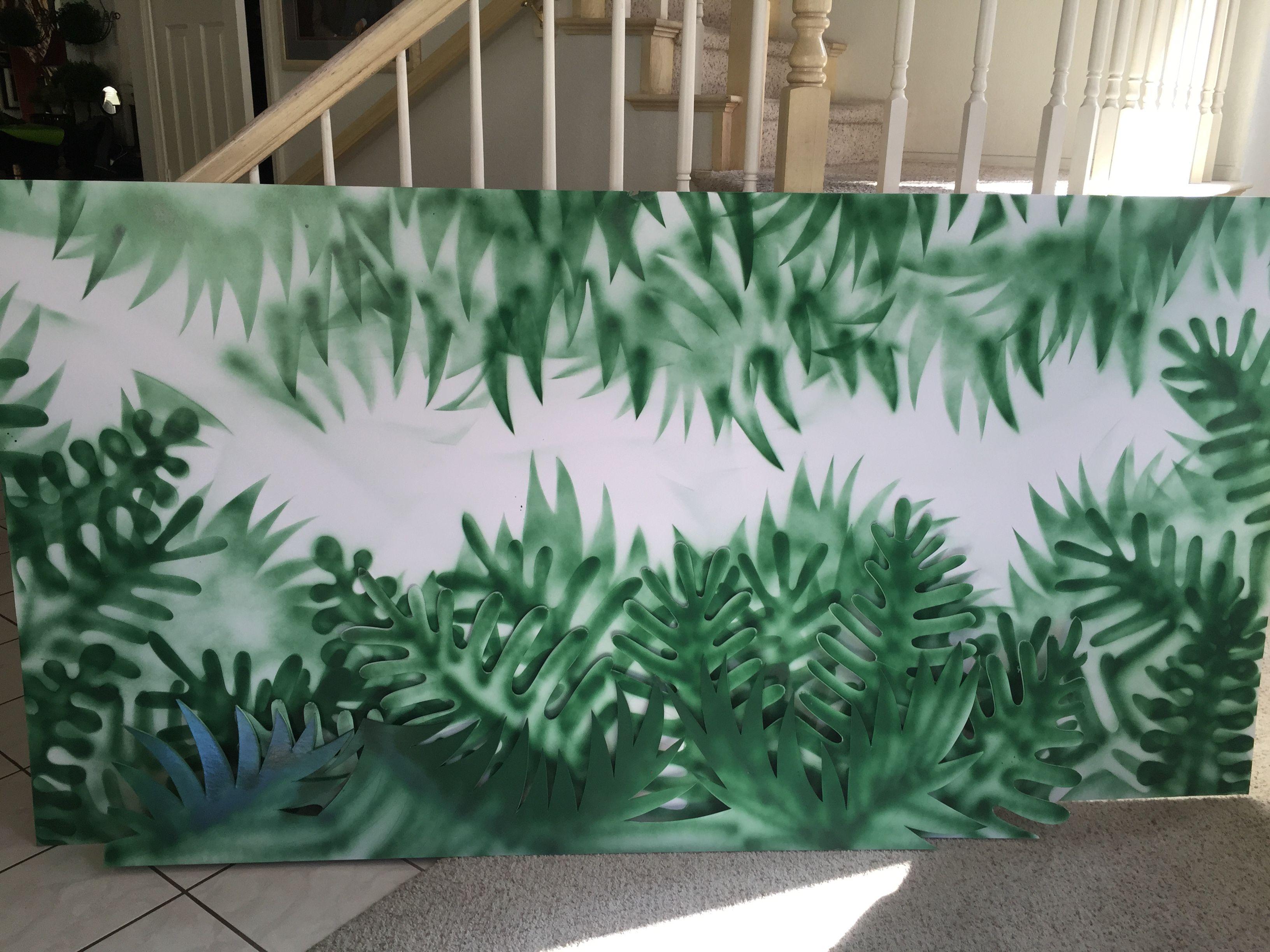 Magalie Sarnataros Props Jungle Vignette Tree And Leaves Spray Paint