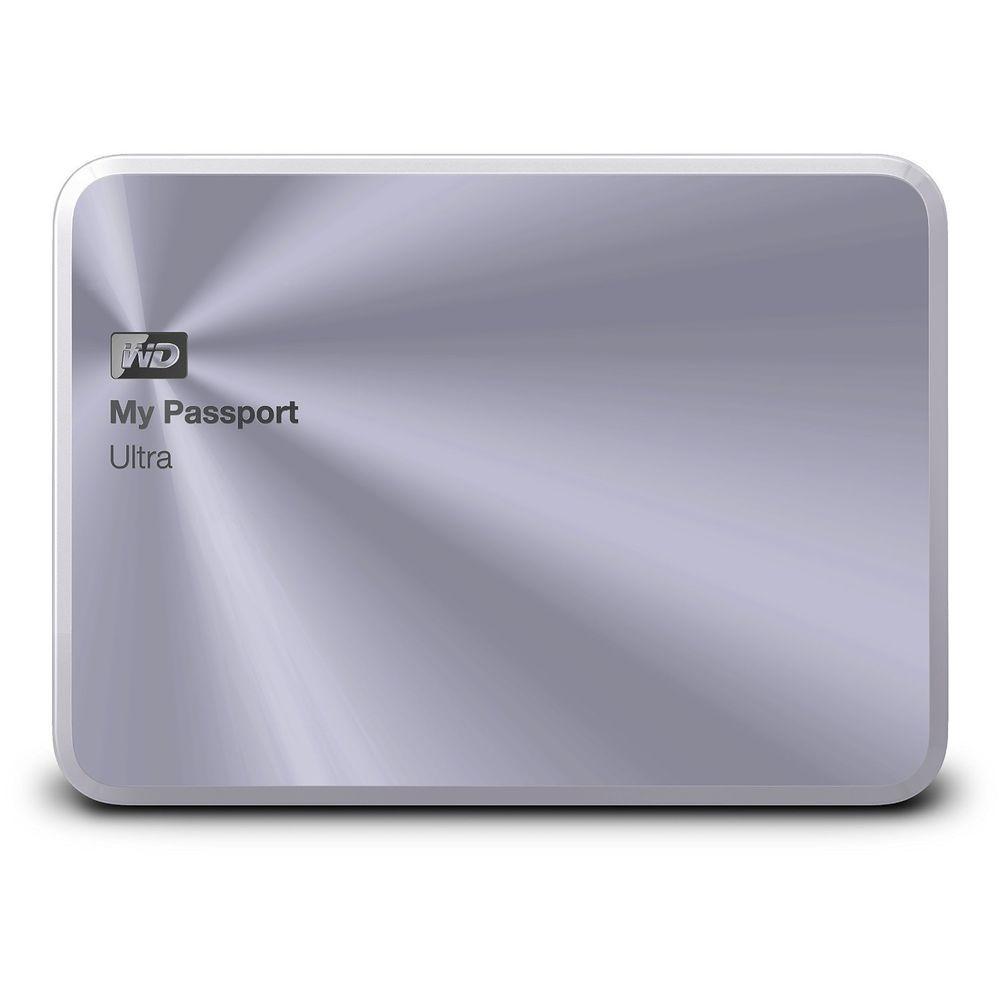 New Wd My Passport Ultra Metal Edition 2 Tb Silver Premium Wdbezw0020bsl Nesn Westerndigita Portable External Hard Drive External Hard Drive Hard Disk Drive
