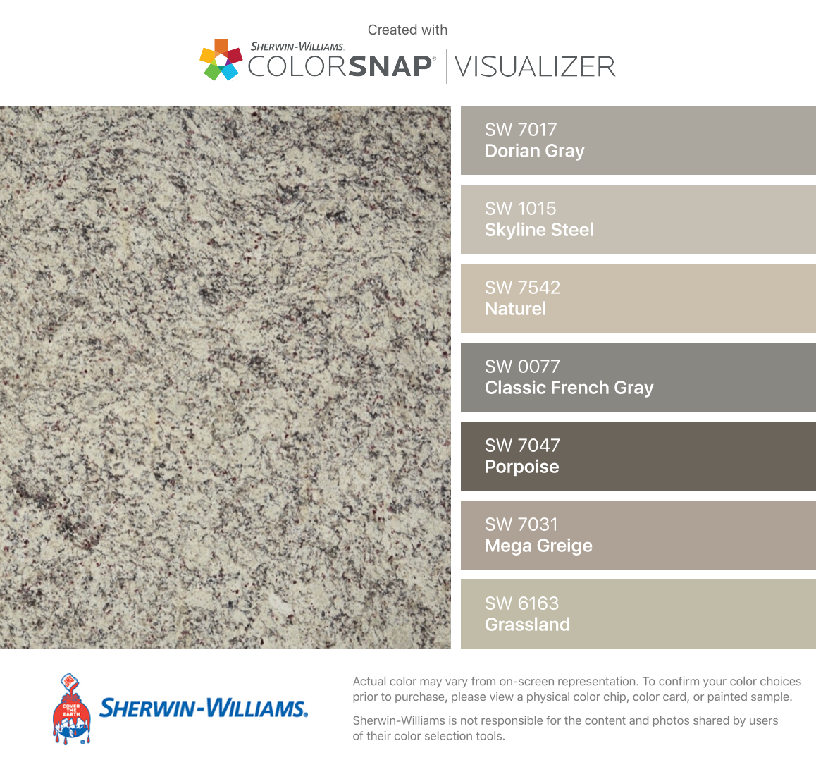 Sherwin Williams Classic French Gray Cabinet Color Sherwin: I Found These Colors With ColorSnap® Visualizer For IPhone