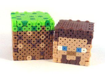 3d Perler Bead Minecraft Creeper Figure Full 10
