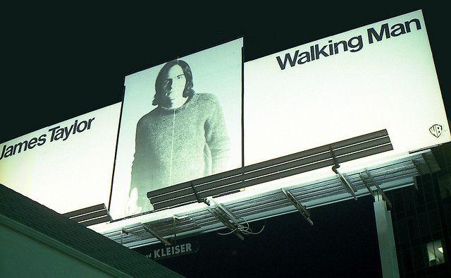 Billboards on Sunset - James Taylor 'Walking Man'