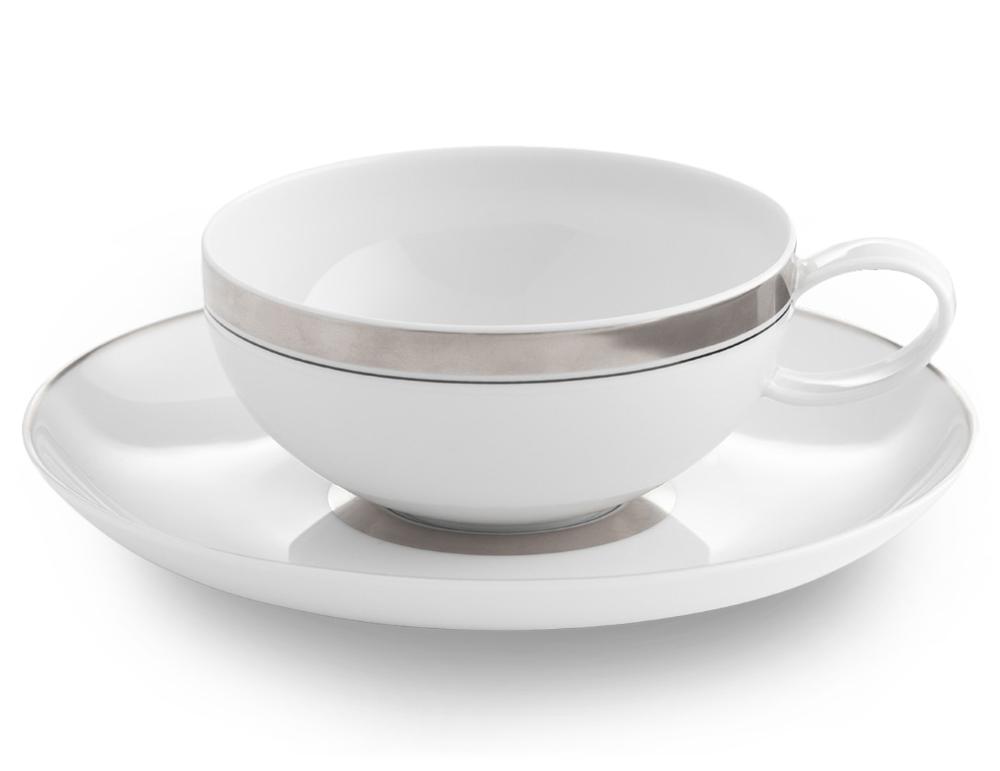 Photo of Domo Platinum Tea Cup & Saucer porcelain