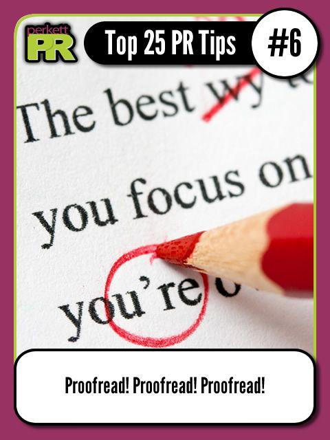Proofread! Proofread! Proofread! #PR #tips #marketing ...