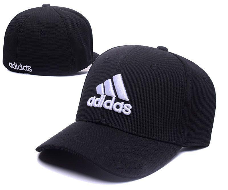 bdf1f7601c6 Men s   Women s Adidas The 3 Stripes Embroidery Logo Flexfit Hat - Black    White