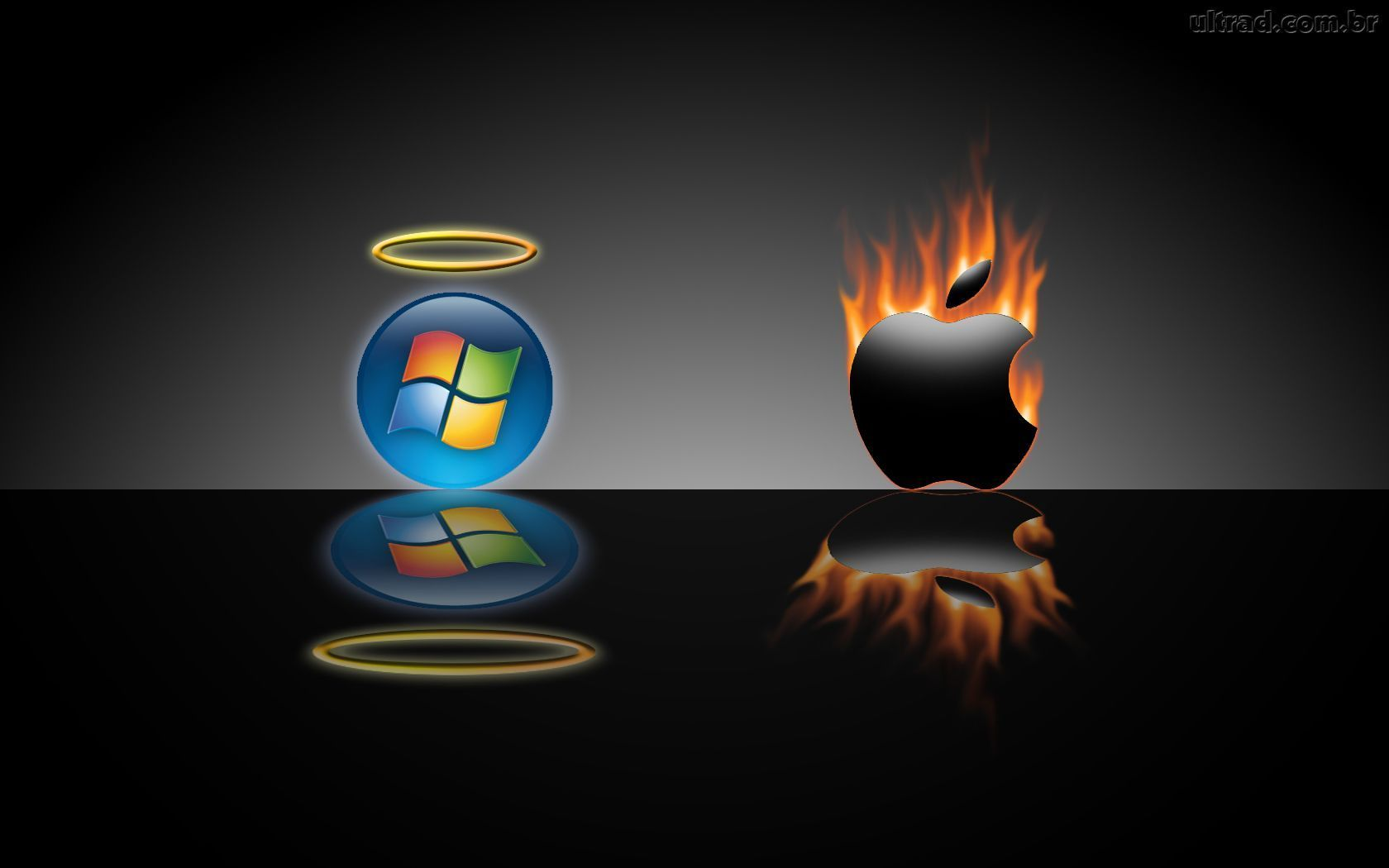 Apple Vs Microsoft Microsoft Wallpaper Mac Vs Pc Apple Wallpaper