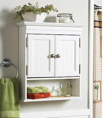 White Cottage Style Bathroom Wall Cabinet Storage Shelf Diy Wall