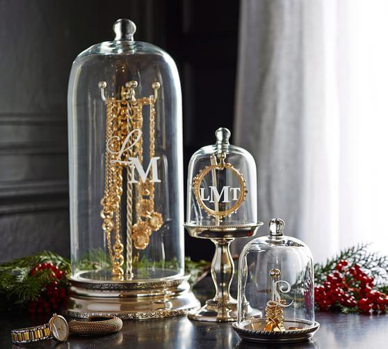Glass Cloche Jewelry Storage Jewellery Storage Pottery