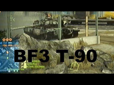 Battlefield3 - Мощь T-90. Уничтожает ATRAC(БМП США), автомобили и кучу п...