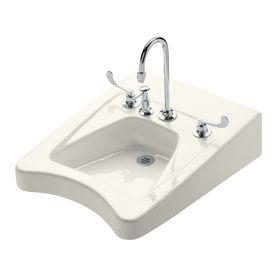 kohler morningside biscuit wallmount rectangular bathroom sink with overflow 12634l96