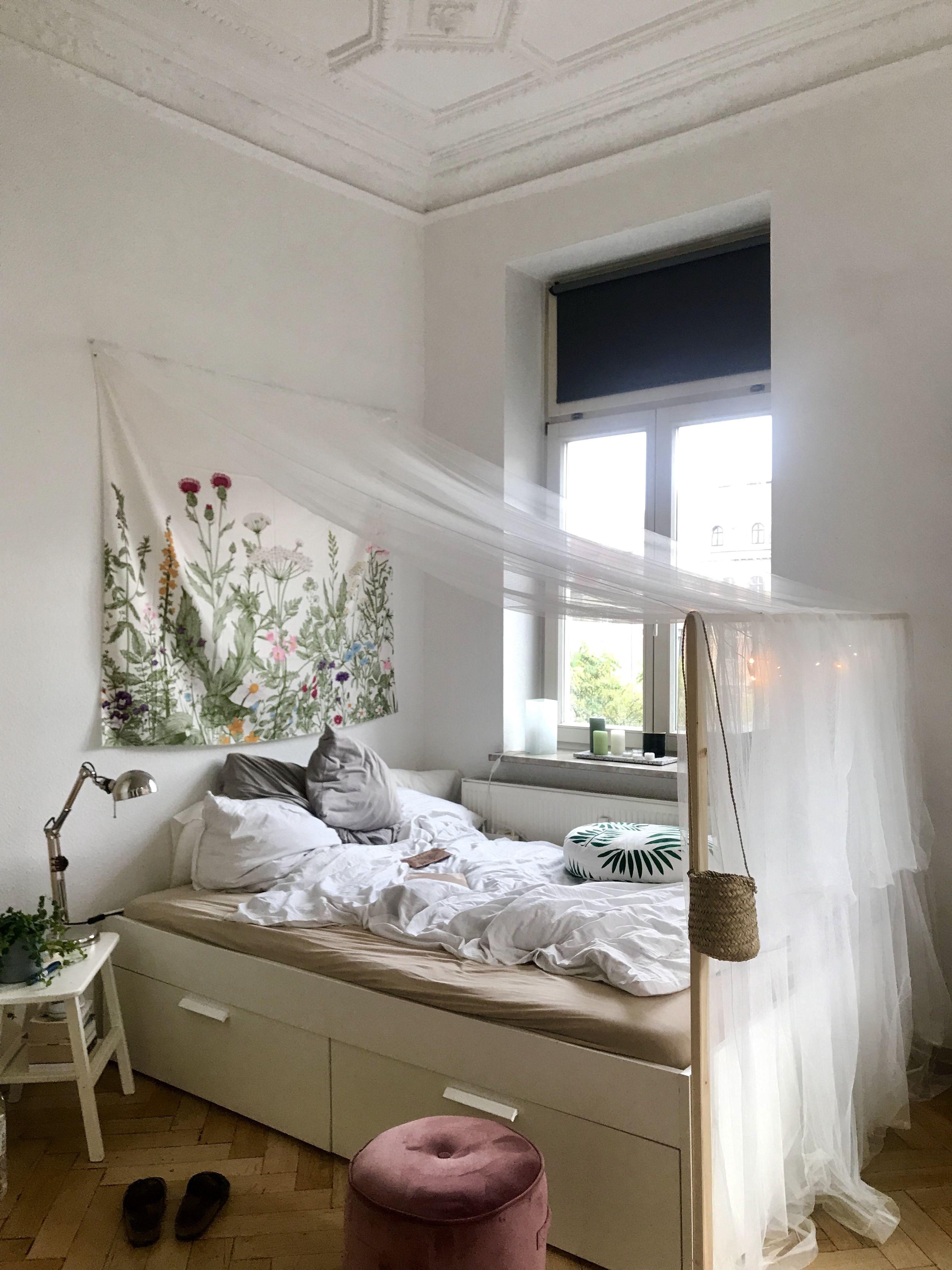 DIY Himmelbett Vorhang Raumtrenner Wandbehang Schlafzimmer ...