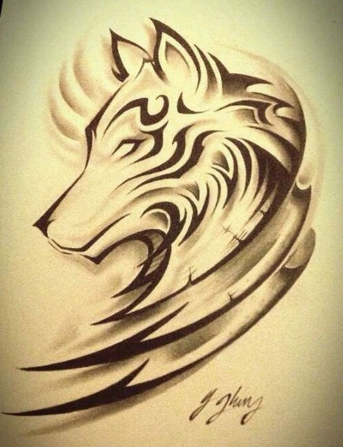 wolf tattoo 2 projet art pinterest loups tatouages. Black Bedroom Furniture Sets. Home Design Ideas