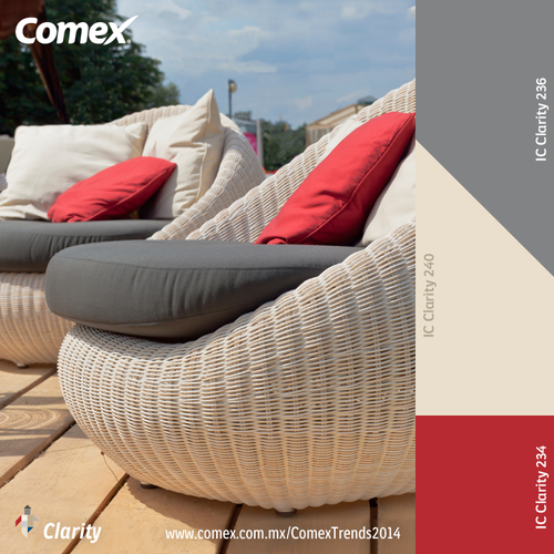 Clarity con un toque de vitalidad en rojo comex trends for Color de pintura al aire libre casa moderna