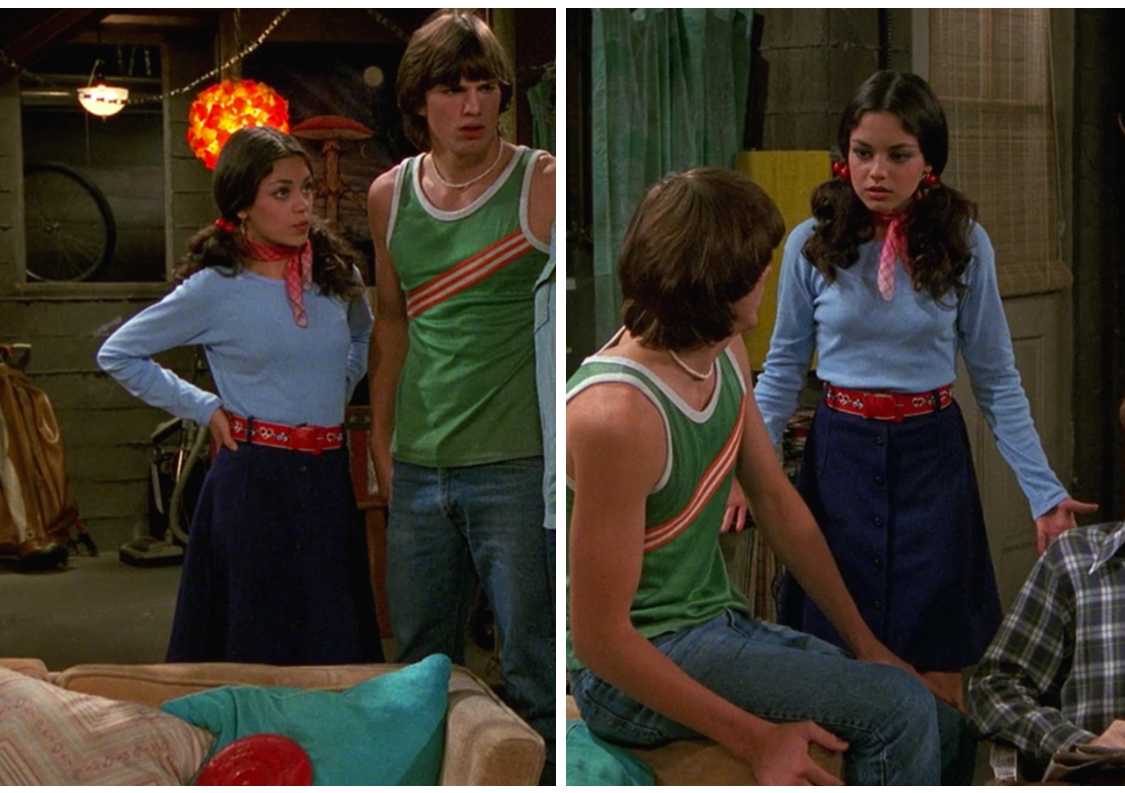 Jackie Burkhart with Michael Kelso