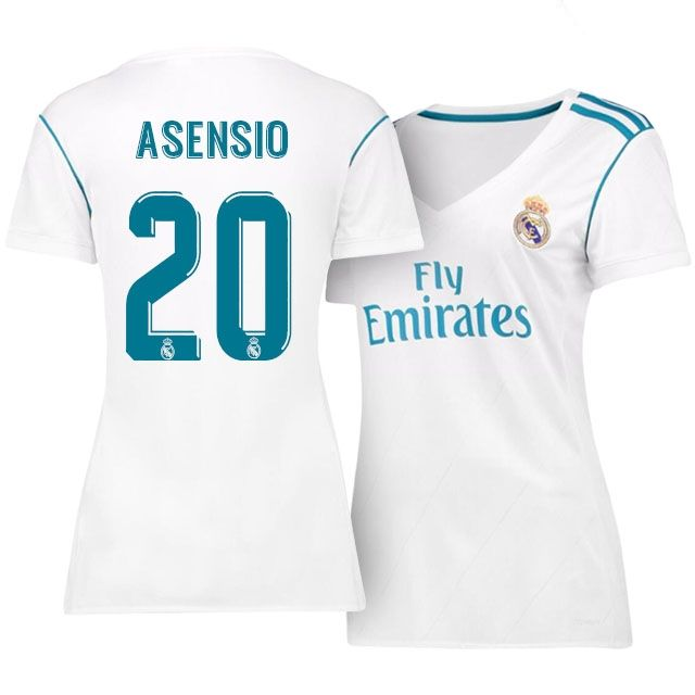 low priced 35c5c 56e72 Real Madrid Jersey 17-18 marco asensio Home Women Shirt ...