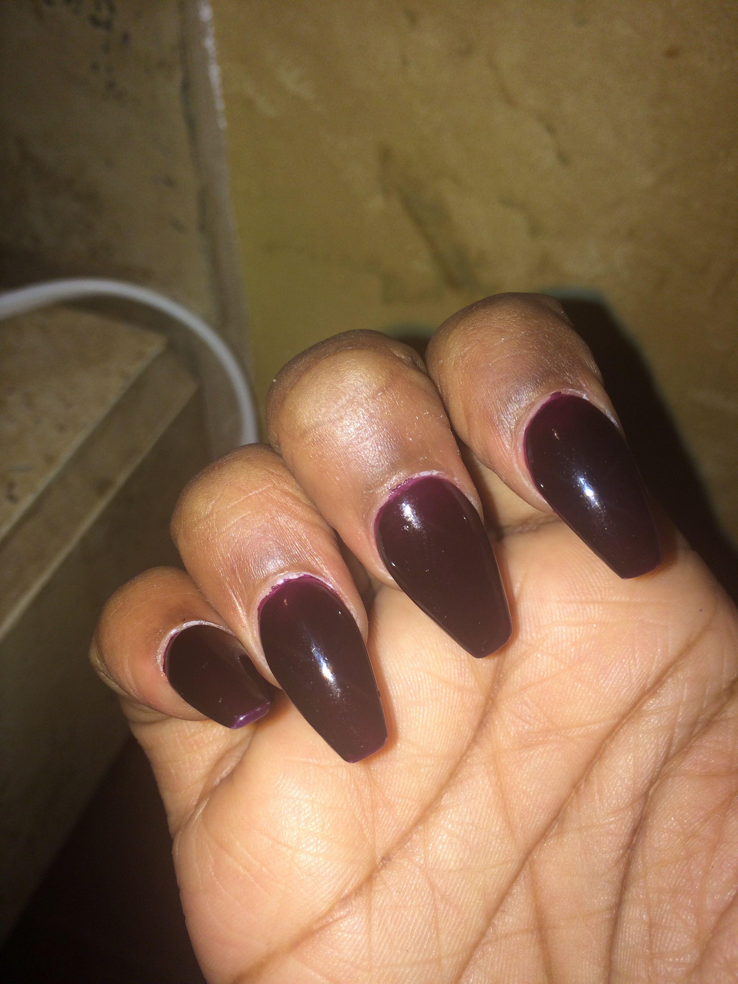 Finally got my #coffinnails #plum fall color!!