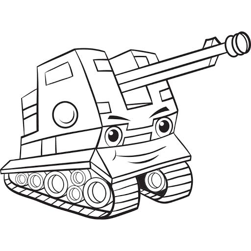 Mewarnai Gambar Mobil Tank Militer Warna Gambar Lucu
