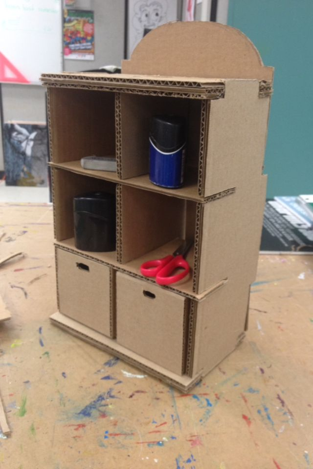 Put the strength of cardboard to the test This is mini mock up of a