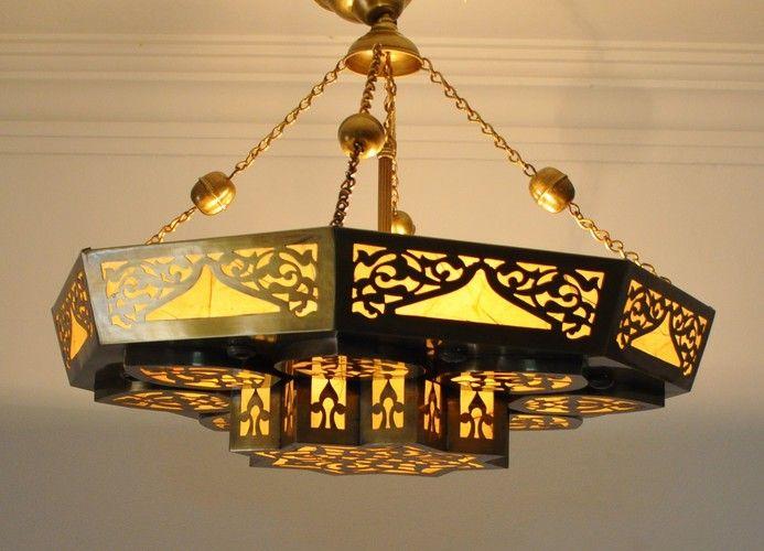 Brass jeweled star moroccan chandelier moroccan chandelier brass jeweled star moroccan chandelier aloadofball Choice Image