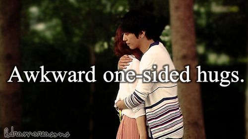 Awkward one-sided hugs.  K-drama: Heartstrings/ You've Fallen For Me  Requested by: fanny-flores